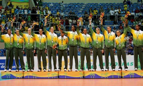 图文-泛美运动会古巴女排夺冠巴西队只能接受银牌
