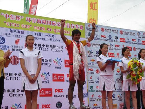 图文-环湖赛第八赛段赛况马海军获得亚洲最佳