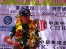 图文-环青海湖自行车赛最终赛段赛段冠军戴维斯