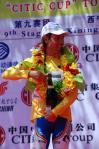 图文-环青海湖自行车赛最终赛段总冠军加百列