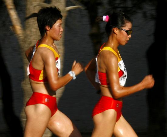 图文-田径亚洲锦标赛中国选手蒋秋艳女子竞走摘金