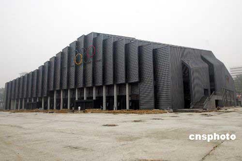 图文-奥运会摔跤体育馆农大收尾建筑颇具异域风格