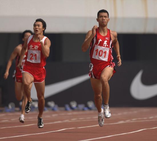 图文-全国田径锦标赛刘孝生夺得男子400米冠军