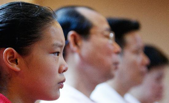 图文-体操队公布世锦赛选手大名单程菲表情严肃