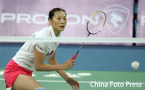 图文-羽毛球世锦赛张宁顺利晋级张宁网前技术出众