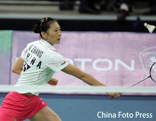 图文-羽毛球世锦赛张宁顺利晋级正反手形成封锁