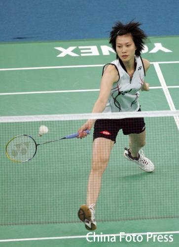 图文-羽球世锦赛第二轮谢杏芳晋级应对网前小球