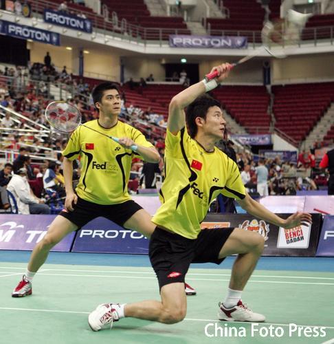 图文-羽毛球世锦赛男双激战蔡�S势如招宝七郎