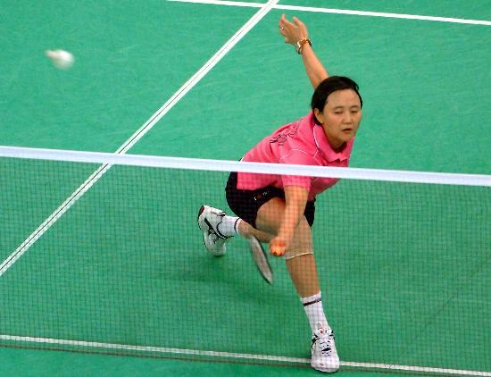 图文-羽毛球世锦赛王晨晋级第三轮老将网前回球