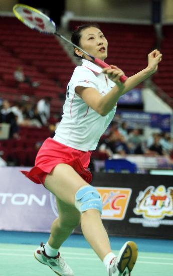 图文-羽毛球世锦赛张宁顺利晋级瞄准来球致命一击