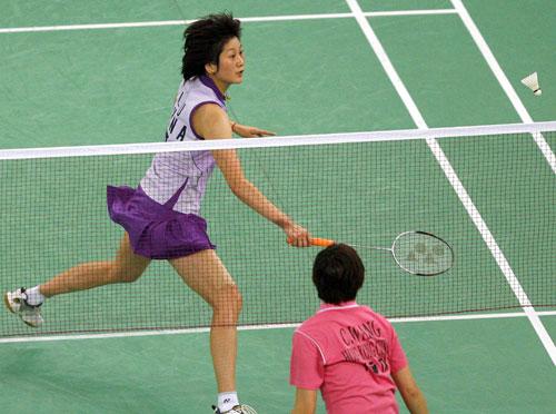羽球世锦赛女单朱琳夺冠网前小球较量高下