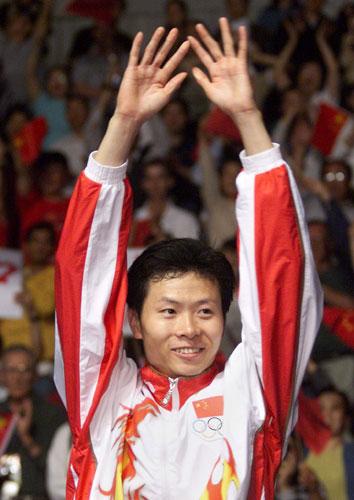 图文-历届奥运会羽球男单冠军吉新鹏悉尼奥运摘金