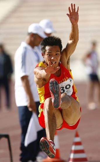 图文-世锦赛中国男子军团一览男子跳远李润润