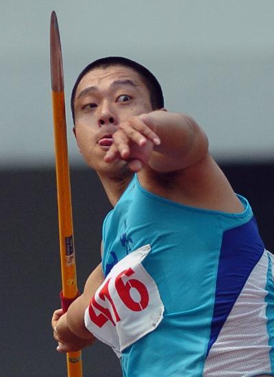 图文-世锦赛中国男子军团一览男子标枪秦强