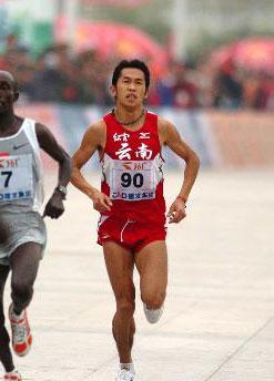 图文-世锦赛中国男子军团一览男子马拉松邓海洋