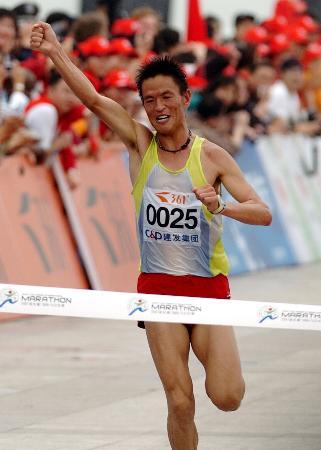 图文-世锦赛中国男子军团一览男子马拉松李柱宏
