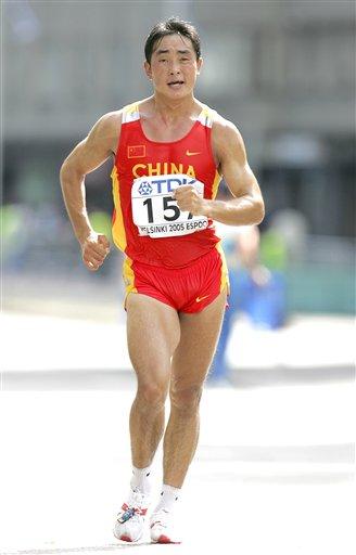 图文-世锦赛中国男子军团一览50公里竞走赵成良