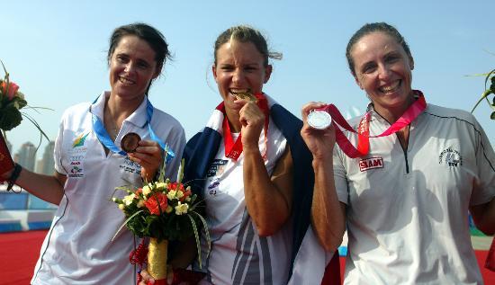 帆船8项目决战奖牌轮女子帆板冠亚季军