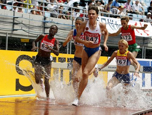 图文-[田径]女子3000米障碍预赛沃尔科娃领跑群芳