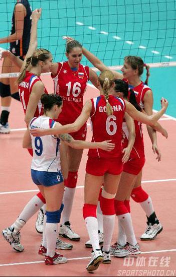 图文-荷兰女排3-2俄罗斯全胜夺冠俄罗斯拿下一分