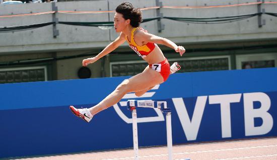 图文-[田径]女子400米栏黄潇潇晋级女飞人跨栏瞬间