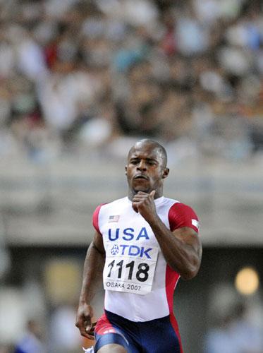 图文-田径世锦赛男子200米次轮美国马丁加速向前