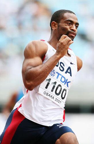 图文-田径世锦赛男子200米第一轮盖伊再次亮相