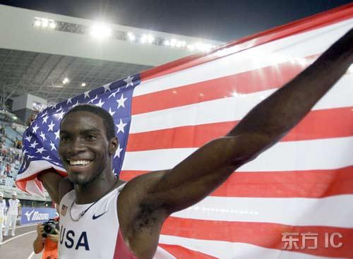 图文-田径世锦赛男子400米栏决赛克莱门特欣喜万分
