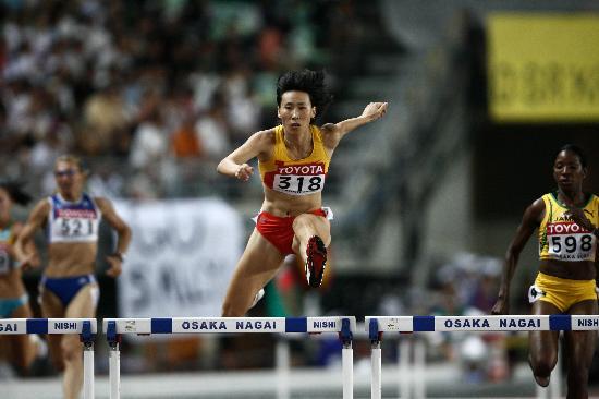 图文-田径世锦赛女子400米栏黄潇潇挺进决赛