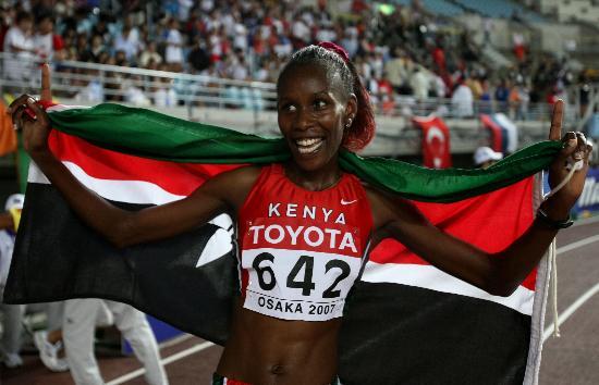 图文-田径世锦赛女子800米赛况肯尼亚选手夺金