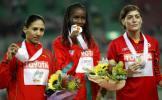 图文-田径世锦赛冠军全集女子800米三甲领奖