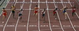 图文-刘翔世锦赛110米栏封王大家是这么冲刺的