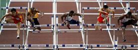 图文-刘翔赢得110米栏世界冠军五大高手比拼实力