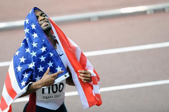 图文-田径世锦赛盖伊200米称王成为国旗的骄傲