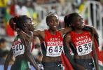 图文-世锦赛德法尔女子5000米夺冠肯尼亚三女将