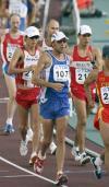 图文-世锦赛男子50公里竞走亚军迪尼兹胸有成竹