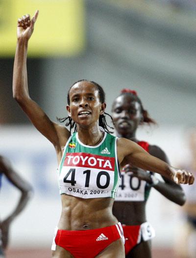 图文-世锦赛女子5千米决赛德法尔夺冠毫无悬念