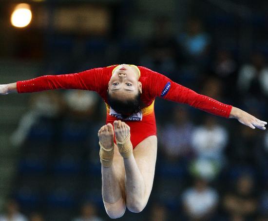 图文-体操世锦赛女子资格赛举行李珊珊参加平衡木