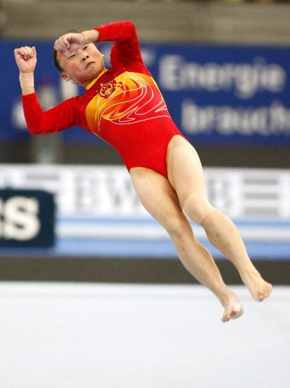 图文-体操世锦赛女子资格赛举行肖莎出战自由操