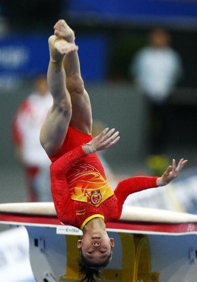 图文-体操世锦赛女子资格赛举行空中翻腾质量高