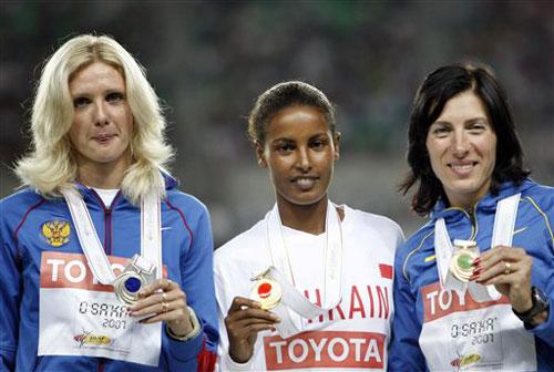 图文-田径世锦赛冠军全集女子1500米贾马尔夺金