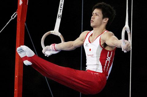 图文-体操世锦赛男团资格赛日本领先富田洋之吊环
