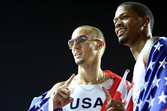 图文-美国队夺男子4X400米接力金牌瓦里纳再立新功