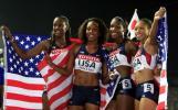 图文-美国队夺女子4X400米接力金牌4女将实力超群