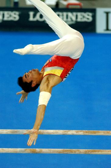 图文-体操世锦赛男子全能杨威夺冠梁富亮出战双杠