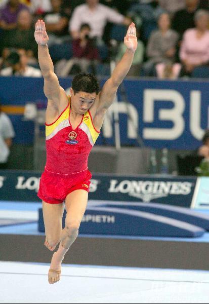 图文-体操世锦赛男子全能杨威夺冠杨威打响头炮