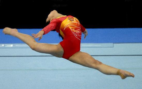图文-体操世锦赛女子自由操决赛程菲飞舞的精灵