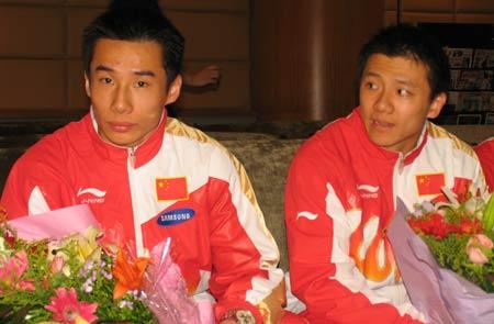 图文-[体操]中国体操队载誉返京肖钦和陈一冰