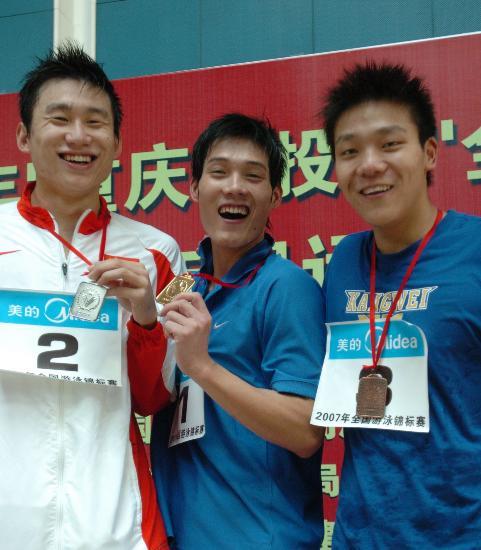 图文-全国游泳锦标赛赖忠坚男子100米蛙泳夺金