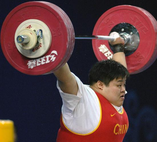 图文-举重世锦赛女子75公斤比赛冠军就在眼前
